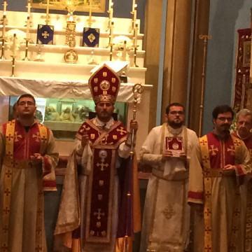Visit of Bishop Moushegh Babayan